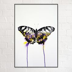 Butterfly Limited Edition screen prints by London based street artist Donk