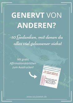 10 Gedanken, mit denen du alles gelassener siehst (mit Worksheet) Annoyed by others? 10 thoughts that make you more relaxed Good To Know, Feel Good, Tips To Be Happy, Salud Natural, Psychology Facts, Social Skills, Better Life, Self Improvement, Happy Life
