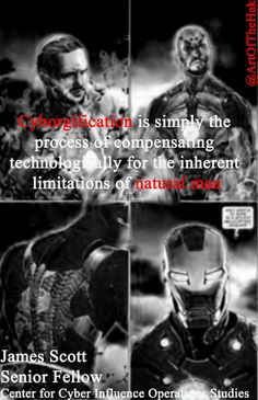 """""""Cyborgification is simply the process of compensating technologically for the inherent limitations of natural man""""-James Scott Lowes Promo, Augmented Technology, Arabica Coffee Beans, James Scott, Nation State, Natural Man, Essay Writer, Sicily Italy, Event Photographer"""