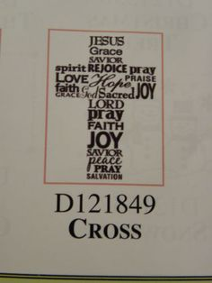 Christian-Cross-EMBOSSING-FOLDER-4-1-4-x-5-3-4-  Made by  Darice Can be found in my ebay store & Can be purchased there: Pat's Rubber Stamps & Scrapbooks, click on the picture to see it, or call me 423-357-4334 with order, or come by 1327 Glenmar Ave. Mt Carmel, TN 37645, Pat's Rubber Stamps & Scrapbook supplies 423-357-4334. We take PayPal. You get free shipping with the phone orders of $30.00 or more. Use my search engine to find all items you are interested in.