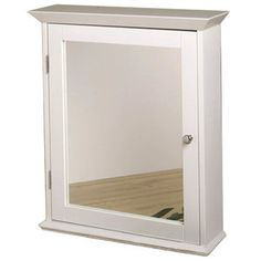 Zenith Products Medicine Cabinet with Mirrored Door in Classic White $130