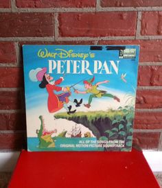 Walt Disney's Peter Pan vinyl record by pillager on Etsy, $6.00 I MUST HAVE THIS!!!
