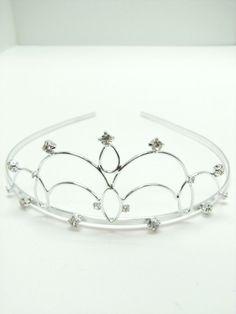 Silver and Crystal Swirl Tiara  Be a pretty princess with this darling tiara