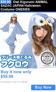 Halloween Costumes: Owl Kigurumi Animal Sazac Japan Halloween Costume Onesies BUY IT NOW ONLY: $59.99