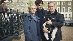 """Wenn das mal nicht der perfekte Start ins neue TV-Jahr ist. Zum 1. Januar beginnt die vierte Staffel """"Sherlock"""" - mit Kind, Meisterdetektiv und Kegel."""