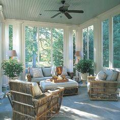 Home Interior Cocina .Home Interior Cocina Home Design, Patio Design, Design Ideas, Modern Design, Estilo Colonial, Blue Ceilings, Painted Ceilings, Sunroom Decorating, Tropical Home Decor