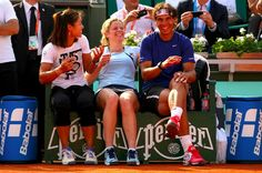 I adore this picture. Three tennis players I like laughing, looking happy and relaxed. (via  @ellaling23 on twitter)