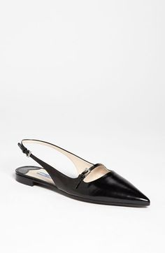 Prada Pointy Toe Slingback Flat available at #Nordstrom