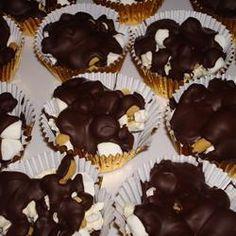 Pipoca com amendoim e chocolate