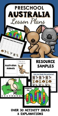 Australia Theme Preschool Classroom Lesson Plans. Learn about Australian animals with your preschoolers in this engaging Australia theme lesson plan set with ideas for reading, math, science & more. (AD)