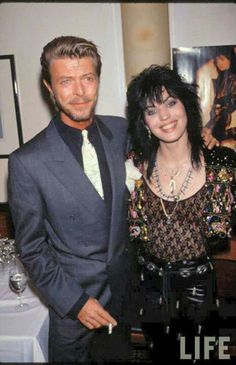 David Bowie with Joan Jett