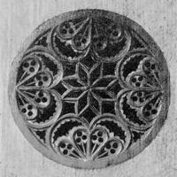 "Rosette of the guitarized-lute with the signature: ""Johann Gollberg, Lauten  and Gei / gen Maker in Dantz, An. 1741""; Eisenach, Bachhaus, Inv.-Nr. I 14; From: Heyde 1976, p. 40, Rosette, p. 38"