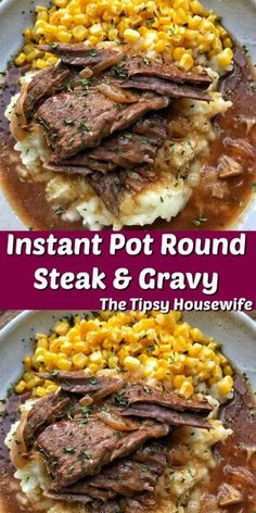 Recipes Round Steak & Gravy The Tipsy Housewife Gravy Housewife instant pot recipes easy healthy recipes Steak Tipsy Fun Easy Recipes, Healthy Recipes, Easy Meals, Cheap Recipes, Ninja Recipes, Healthy Food, Popular Recipes, Easy Comfort Food Recipes, Healthy Sauces