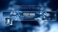 Overwatch - Free Youtube banner template [+ avatar].