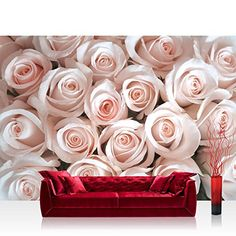 Carta da parati fotografica in tessuto non tessuto 300 x 210 cm - Top. Premium Plus carta da parati fotografica. Da parete immagine xxl murale foto carta da parati carta da parati carta da parati Decorazione da parete con fiori Rose fiore - no. 185
