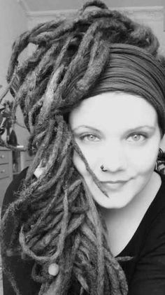 dreads in black and white