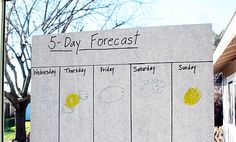 Weekly Weather - Helps them understand weather and also how to pick out appropriate clothing ideas.