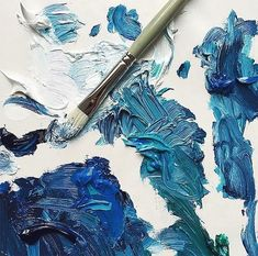 Image about art in aesthetic; ravenclaw by someone Ravenclaw, Everything Is Blue, The Dark Artifices, Texture Painting, Blue Painting, Paint Texture, Texture Art, My Favorite Color, Shades Of Blue