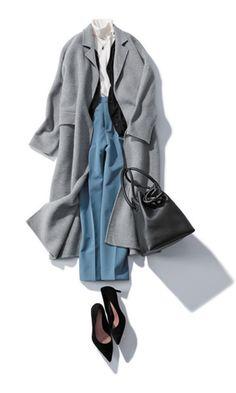 ブルーのパンツ Modest Fashion Hijab, Modern Hijab Fashion, Fashion D, Winter Fashion, Fashion Looks, Fashion Outfits, Daily Fashion, Womens Fashion, Japanese Fashion