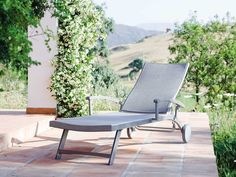 Stern Sonnenliege Milano Aluminium graphit Textil blaugrau kaufen im borono Online Shop