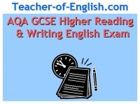 AQA GCSE Exam Prep (H)  English Reading and Writing