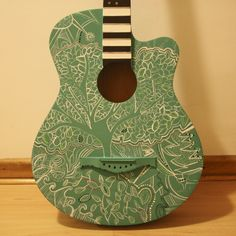 My painted guitar <3