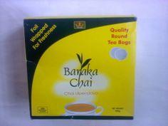 Tea bags-Baraka Chai tea bags-Kenya's best tea-100 tagged tea bags