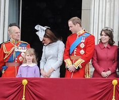 """Saturday, June 16, 2012. Prince William Kate Middleton Princess Eugenie and Duke of Edinburgh at the """"Trooping the Colour Ceremony"""" as part of the Queen's birthday celebration.  ."""