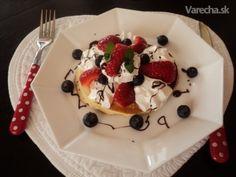 Americké palacinky (fotorecept) - Recept Ale, Pancakes, Pudding, Breakfast, Desserts, Food, Basket, Morning Coffee, Tailgate Desserts