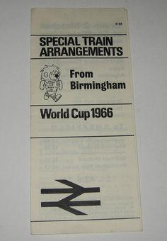 orld Cup Willie original 1966 Rail travel underground leaflets