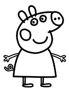 coloring page Peppa Pig - Peppa Pig. http://www.kids-n-fun.com/Coloringpage/Peppa-Pig/3877/Peppa-Pig