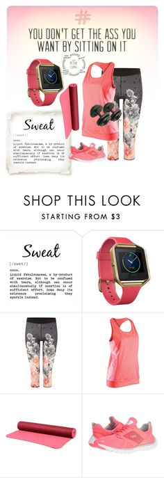 """""""Get fit"""" by jdee77 ❤ liked on Polyvore featuring Fitbit, Ted Baker, Sugoi, NIKE and Rykä"""
