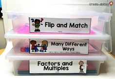 "Click through to see a variety of ideas for organizing all of your math ""stuff"" and materials in the elementary classroom! 5th Grade Classroom, Primary Classroom, Classroom Setup, School Classroom, Craft Organization, Classroom Organization, Organizing, Classroom Management, First Grade Math"