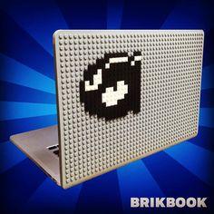 Bullet Bill Mario MacBook Case from BrikBook.com bullet bill, nintendo world, super mario bros 3, super mario 3, super mario brothers, super mario bros, nintendo, super mario, super mario world, macbook, macbook case, pixel, pixel art, 8bit Shop more designs at http://www.brikbook.com