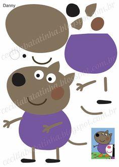 : Upon request - Moulds Peppa Pig and the gang Pig Crafts, Felt Crafts, Crafts For Kids, Paper Crafts, Molde Peppa Pig, Cumple Peppa Pig, Peppa Pig Y George, George Pig, Peepa Pig