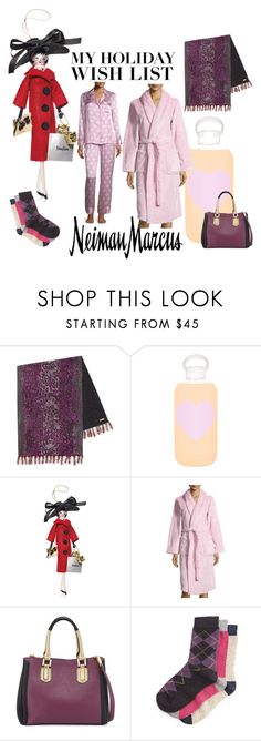 """""""The Holiday Wish List With Neiman Marcus: Contest Entry"""" by sassyscribe ❤ liked on Polyvore featuring Neiman Marcus, bkr and Soffieria de Carlini"""