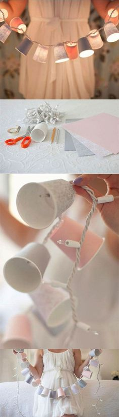 Decorative paper cups Garland - DIY!
