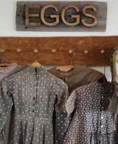 Primitive Barn wood Antique Farm Eggs Sign  early dresses