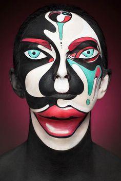 Extraordinárias pinturas em rostos por Alexander Khokhlov