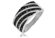$59.99 - ½ Carat Black Diamond Sterling Silver Ring