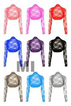 New Womens Ladies Plus Size Lace Detail Bolero Cropped Shrug Top Cardigan 16-22