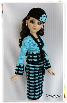 """bena-pl.. Clothes for Ellowyne Wilde, Amber, Lizette, Prudence 16"""" OOAK outfit"""