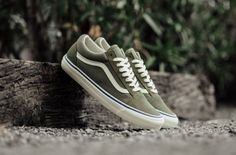 3c870fdfc8e Olive green old school Vans. Great for the fall   early winter Old School  Vans