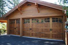 custom clear cedar garage door Wayne Dalton Corp.