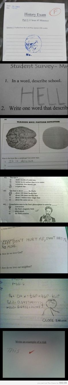 Love these exams answer part 2!