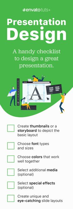 A handy checklist to help ensure your presentation looks great