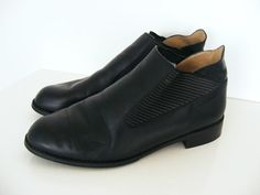1980s black leather shoes