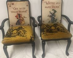 Alicia en la silla de comedor Wonderland / alto negro con respaldo Silla / ocasional silla / sillas carver comedor silla / decoración casera gótica estilo /