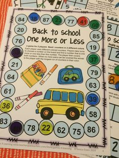FREEBIES - math games to start the school year - Back to School Math Games