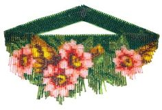 Flowers For Mom Weave Fringe Necklace : Beading Patterns and kits by Dragon!, The art of beading.